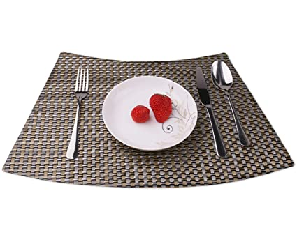 Amazon Com Convetu Dining Table Mats Pm06 Wedge Placemats