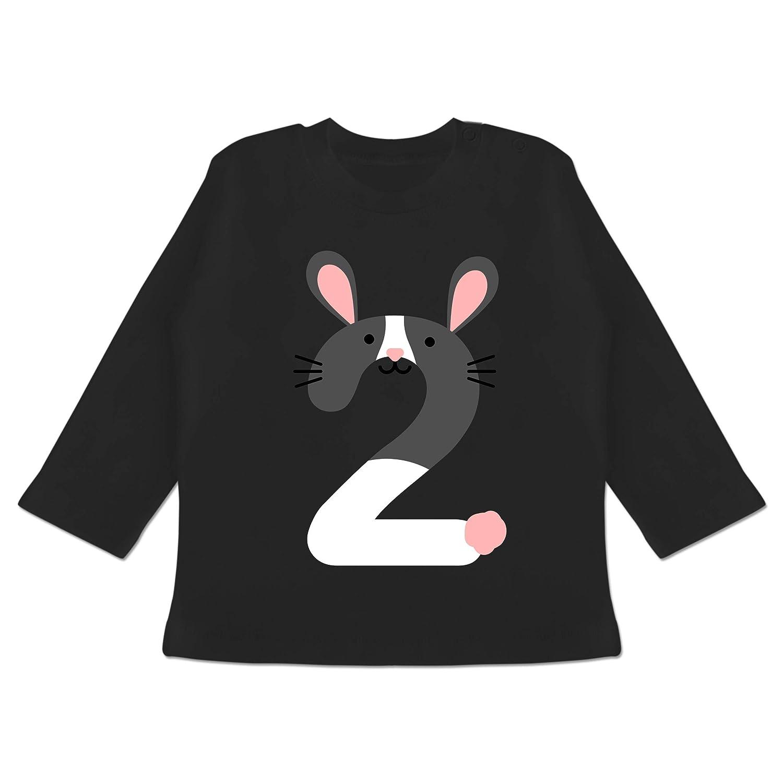 Baby T-Shirt Langarm Geburtstag Baby Hasen Geburtstag 2