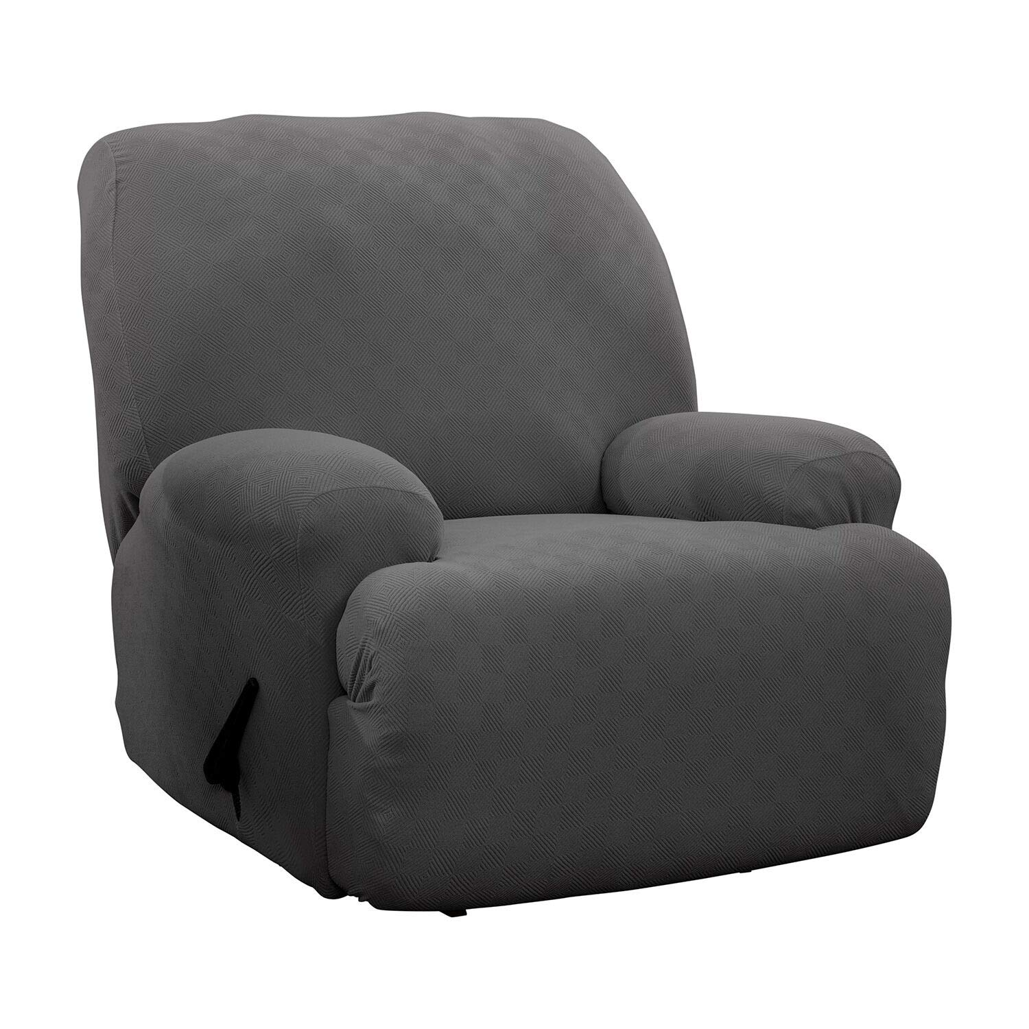 Stretch Sensations, Newport Jumbo Recliner Slipcover, Oversized Recliners, Perfect Chair Protection, Comfortable Easy Stretch Fabric (Grey) by Stretch Sensations