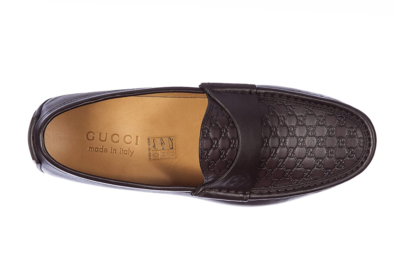 Gucci mocasines en piel hombres miro soft micro guccissima marrón EU 44 322929 A9LF0 2019: Amazon.es: Zapatos y complementos