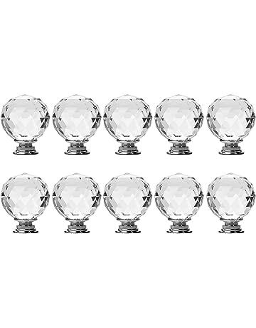 10 Stk redondo 30 mm pull Handle reluciente cristal brillantes Knob para armario armario cajón de