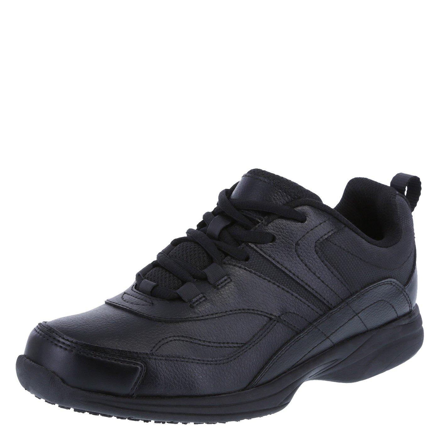 safeTstep Slip Resistant Women's Black Women's Athena Sneaker 7 Regular by safeTstep (Image #1)