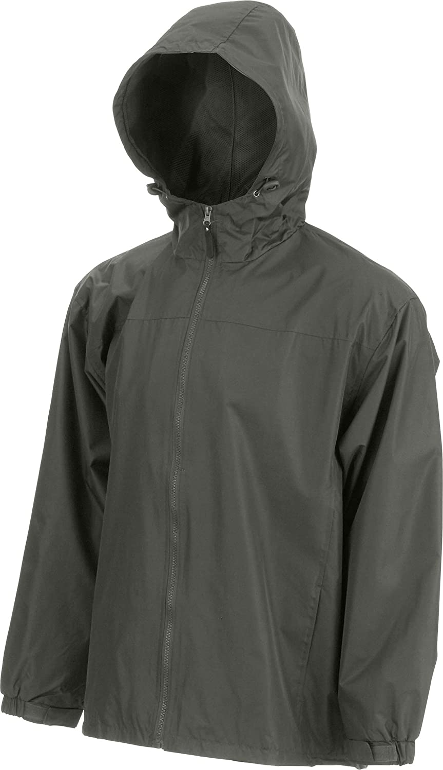 eb79 Mens Lined Hooded Wind Resistant//Water Repellent Windbreaker Jacket Khaki 3XL