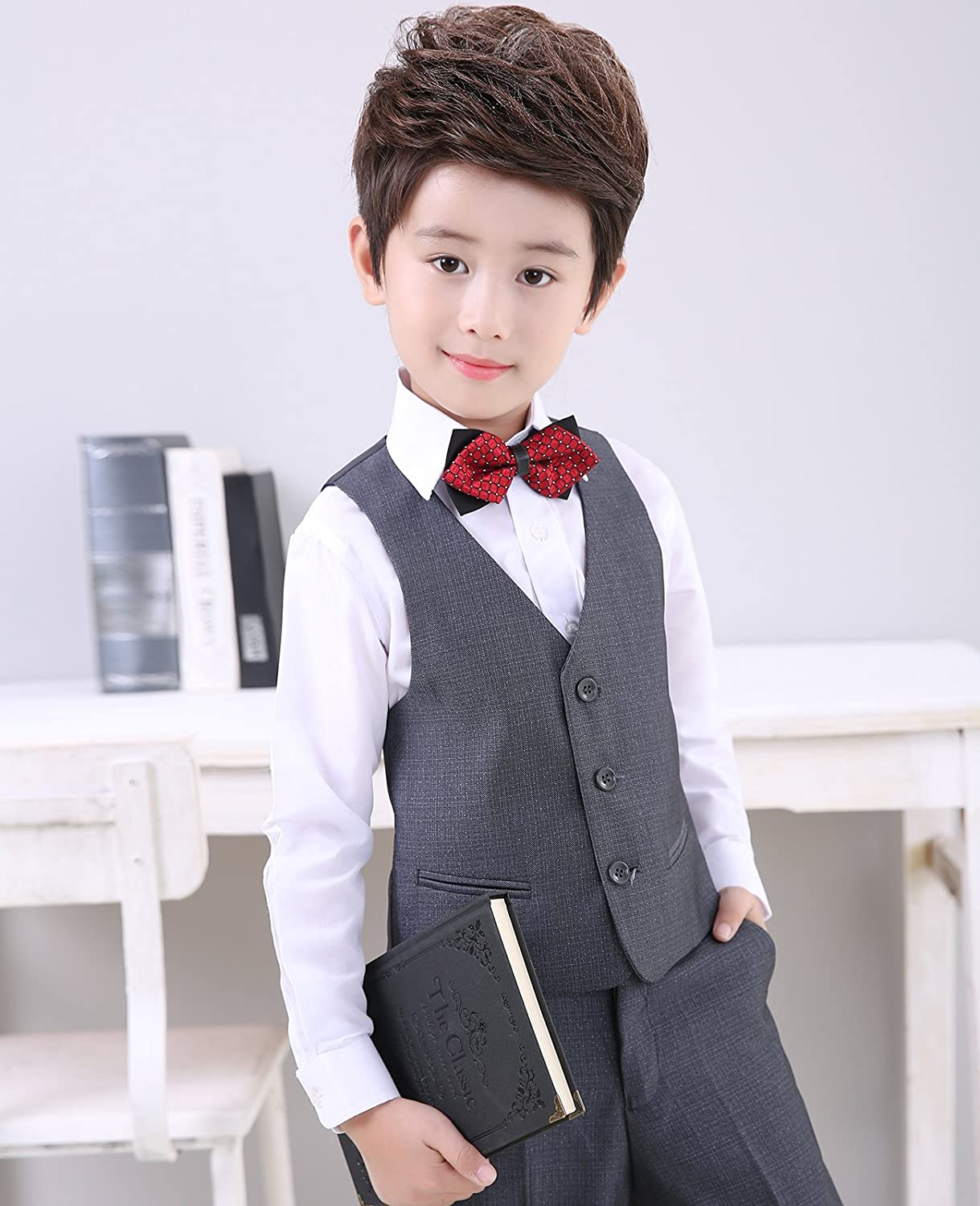 Amazon.com: Boys suits dress wear tuxedo trajes de bodas ...