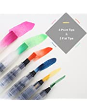 Firbon Set pennelli per acquerello Set di 20 pennarelli colorati con punta morbida per pittura e calligrafia per libri da colorare per adulti