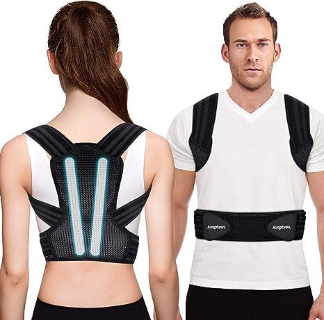 Women Adjustable Shoulder Back Posture Corrector Chest Brace Support Belt Vest Q