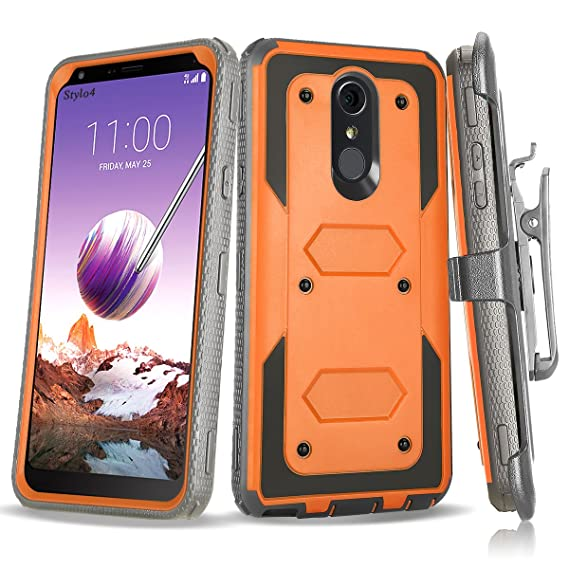 new style 34c9a accb4 Amazon.com: LG Stylo 4 Case, SCOVEE Tank with built-in [Screen ...