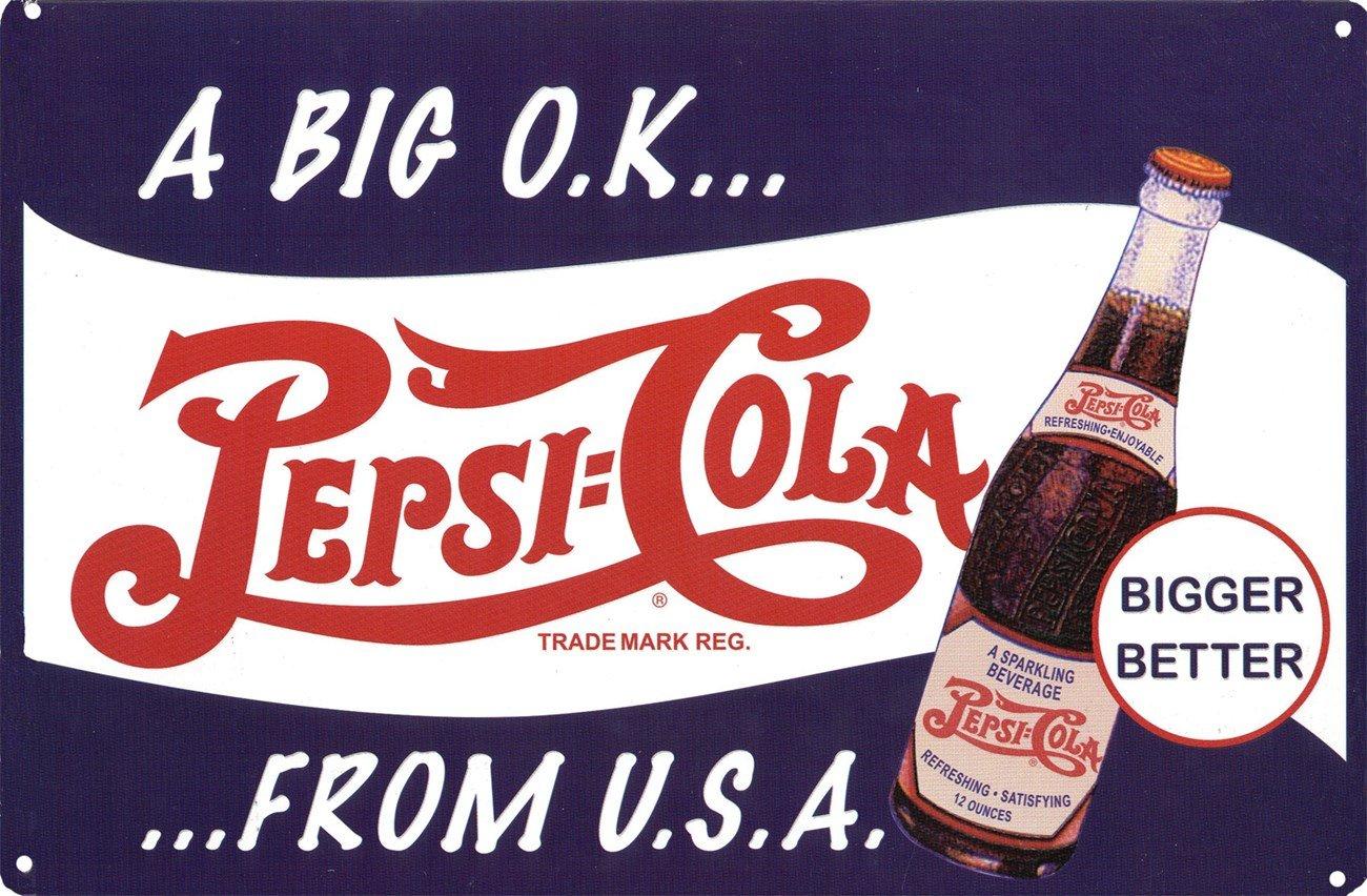 Pepsi-Cola Cartel A big OK from the USA 43x28cm Violeta ...