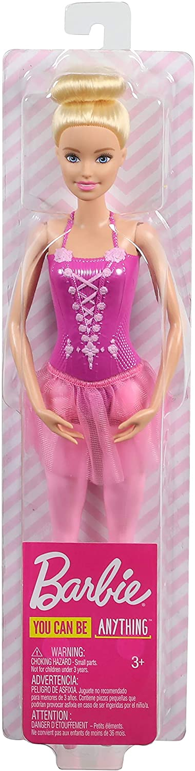 Barbie Ballerina Doll with Ballerina Outfit Ballet-Posed Arms and Blonde Ballet Bun for Ages 3 Years Old and Up Sculpted Toe Shoes Tutu