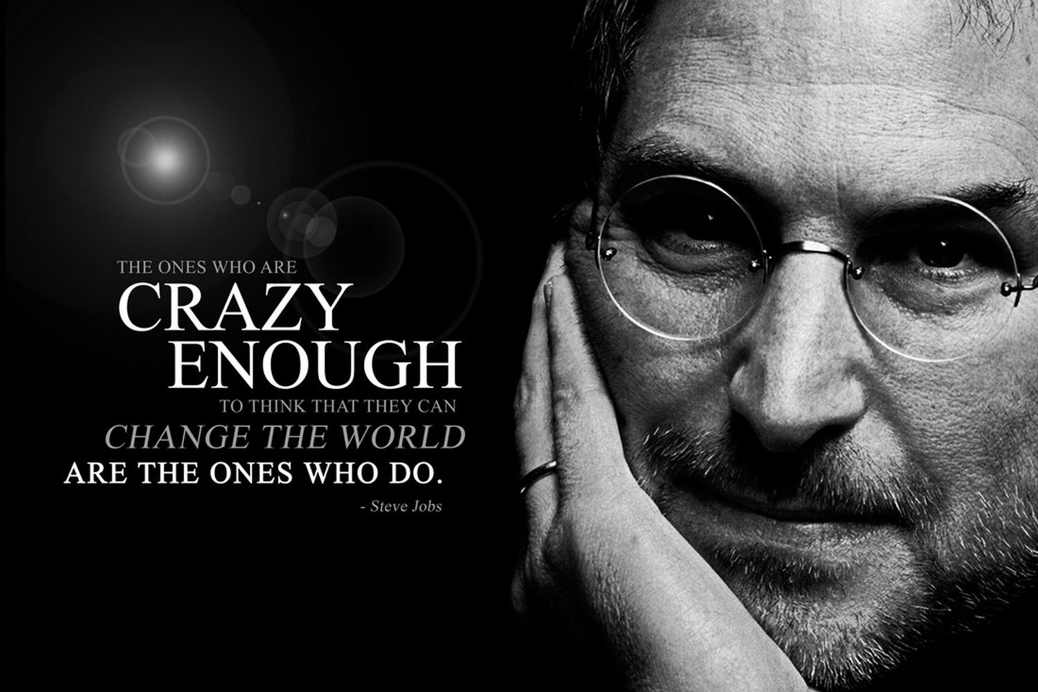 Posterboy steve jobs crazy enough poster amazon in home kitchen