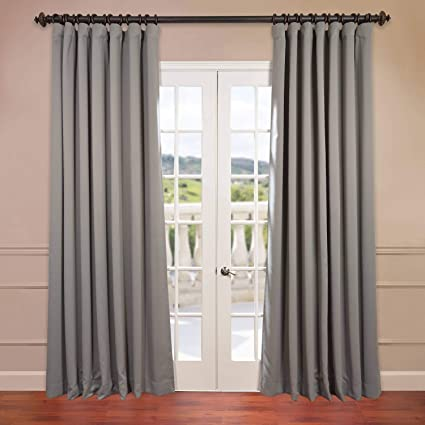 Hpd Half Price Drapes Boch 174402 84 Dw Extra Wide Blackout Room Darkening Curtain 100 X 84 Neutral Grey