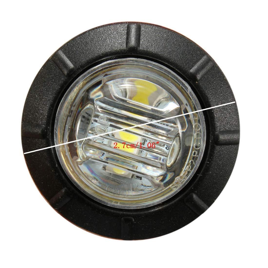 5 Gelb 5 Rot 15pcs 3 LED 3//4 Seitenmarkierungsleuchte Rund Abstand Licht 5 Wei/ß Umrissleuchte Begrenzungsleuchte Positionsleuchte f/ür 12V LKW Anh/änger Bus Van Parkleuchten