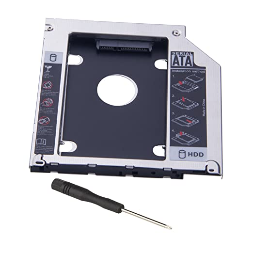 2 opinioni per e-bour Hard Drive Caddy 9,5 mm 2 nd HDD Caddy vassoio Adattatore SSD Enclosure