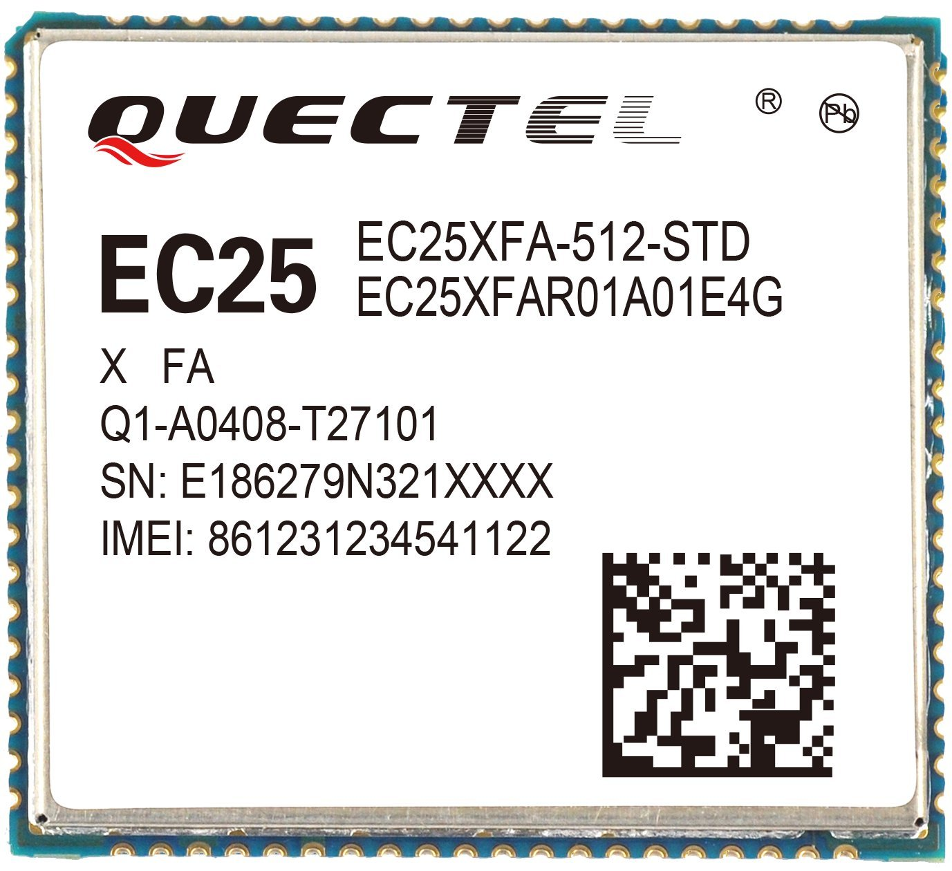 Quectel EC25 IoT/M2M-optimized Cat 4 LTE Module