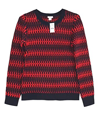 1096a211 J. Crew Factory - Women's - Striped Wool Blend Crew Sweater (X-Small ...