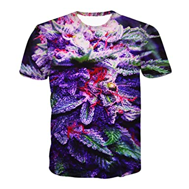 CHIC Women Summer Hipster Green Weed Print 3D Clothing Top Swag T Shirt