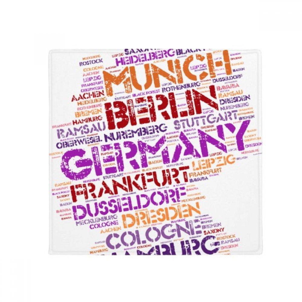 DIYthinker Germany City Name Map Style Anti-Slip Floor Pet Mat Square Home Kitchen Door 80Cm Gift