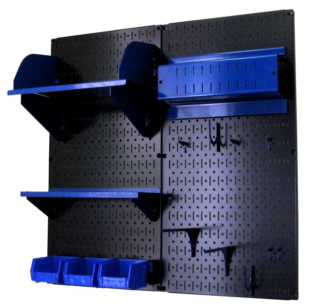 Wall Control 30-CC-200 BBU Hobby Craft Pegboard Organizer Storage Kit, Black/Blue
