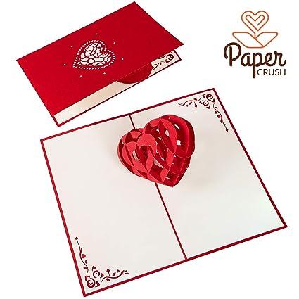 PaperCrush® Tarjeta Pop-Up Corazón 3D - Tarjeta de Boda ...