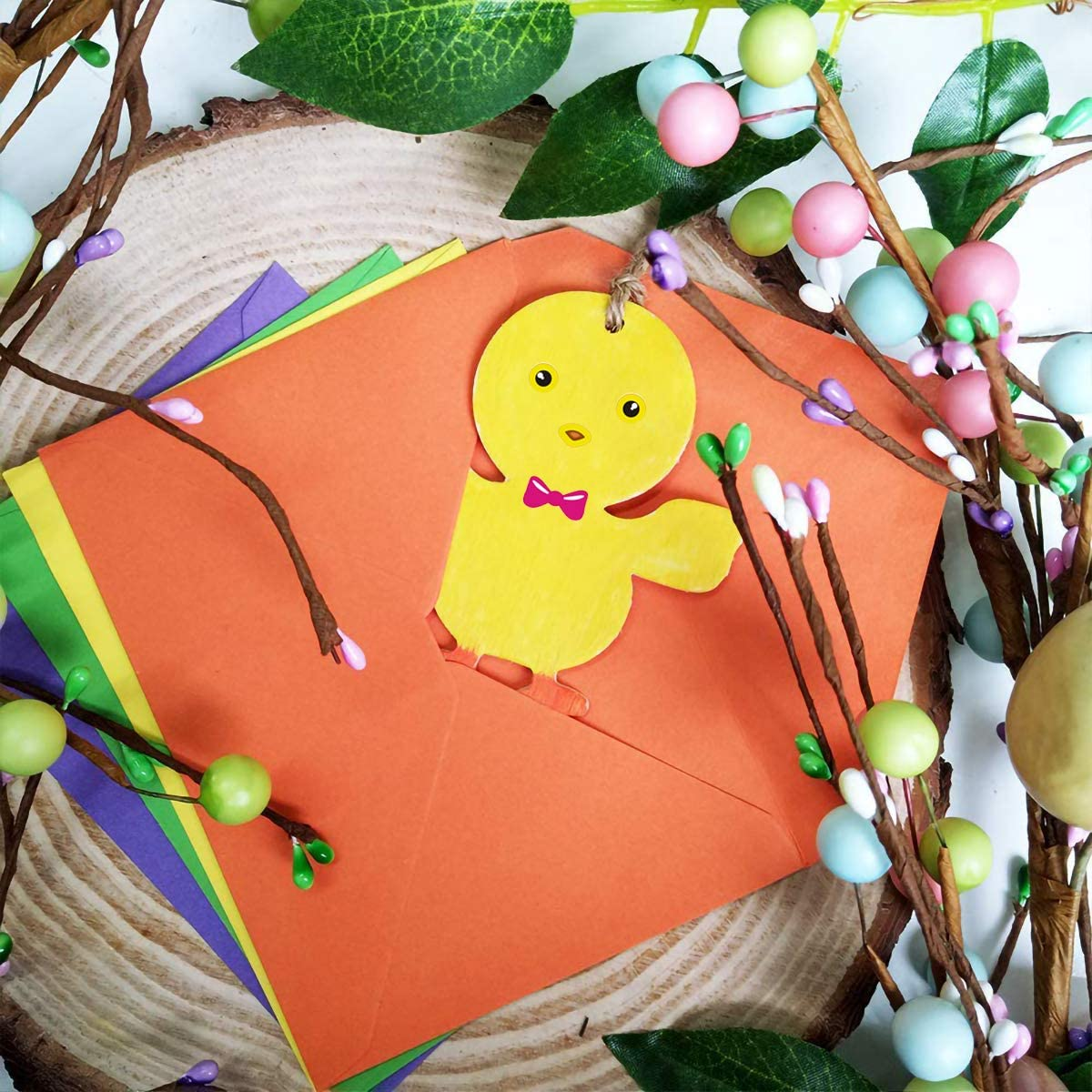 Acoavo Make Your Own Easter Stickers for Kids Lamb Mix Match Kids DIY Party Favor Supplies Craft 24 Sheets Make a Face Stickers with Bunny Chick