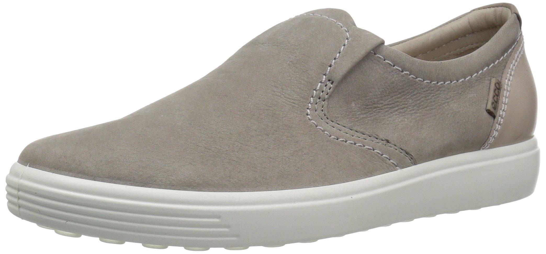 ECCO Women's Soft 7 Slip Fashion Sneaker, Warm Grey Woven, 37 EU/6-6.5 M US