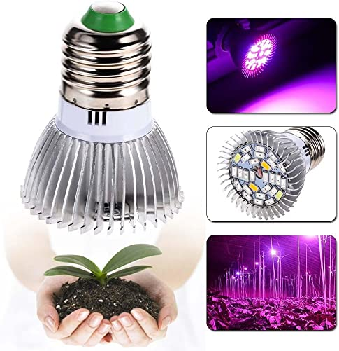28w Hydroponic LED Grow Light Plant Grow Lights E27 Growing Lamp for Garden