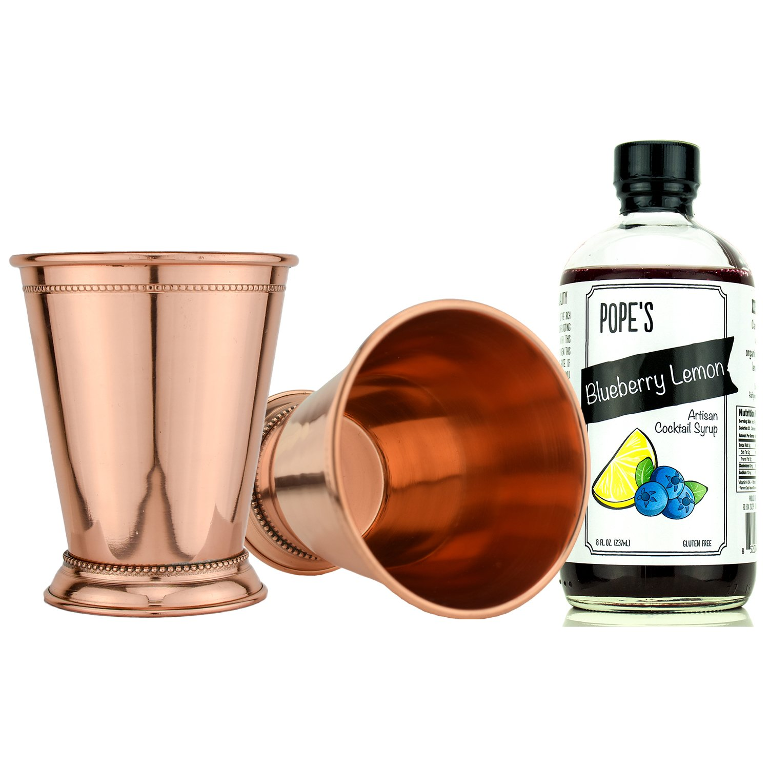 Prince of Scots Copper Julep Cup Cocktail Gift Set ~ Blueberry Lemon ~