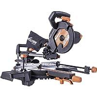 Evolution R210SMS-300+ Multi-Material Sliding Mitre Saw with Plus Pack, 210 mm (230V)