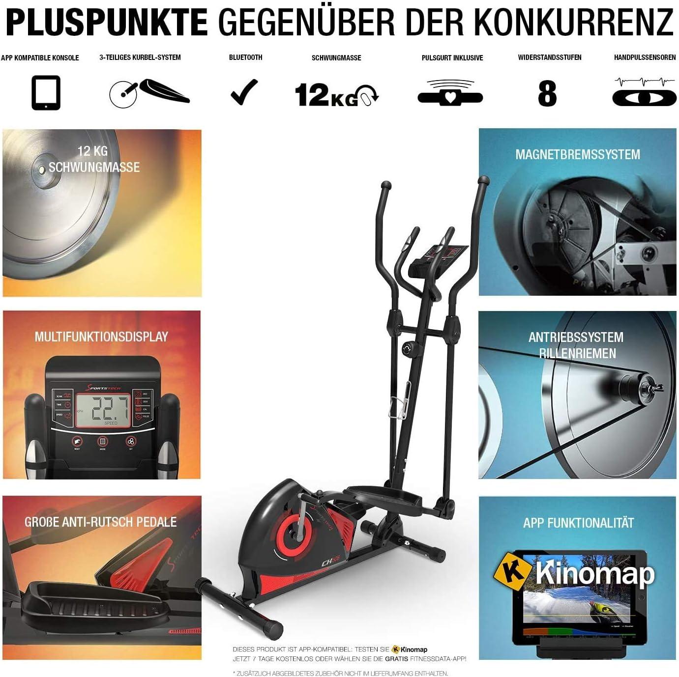 Sportstech CX608 Crosstrainer Funktionsumfang
