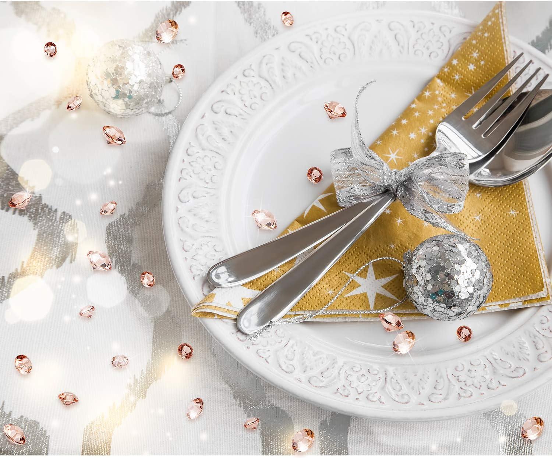 Rose Gold Diamant Tisch Konfetti 3500 St/ück Acryl Kristalle Edelsteine Konfetti Rose Gold Tisch Dekoration 6 mm// 8 mm// 10 mm Vase Perlen f/ür Geburtstag Braut Dusche Party Hochzeit