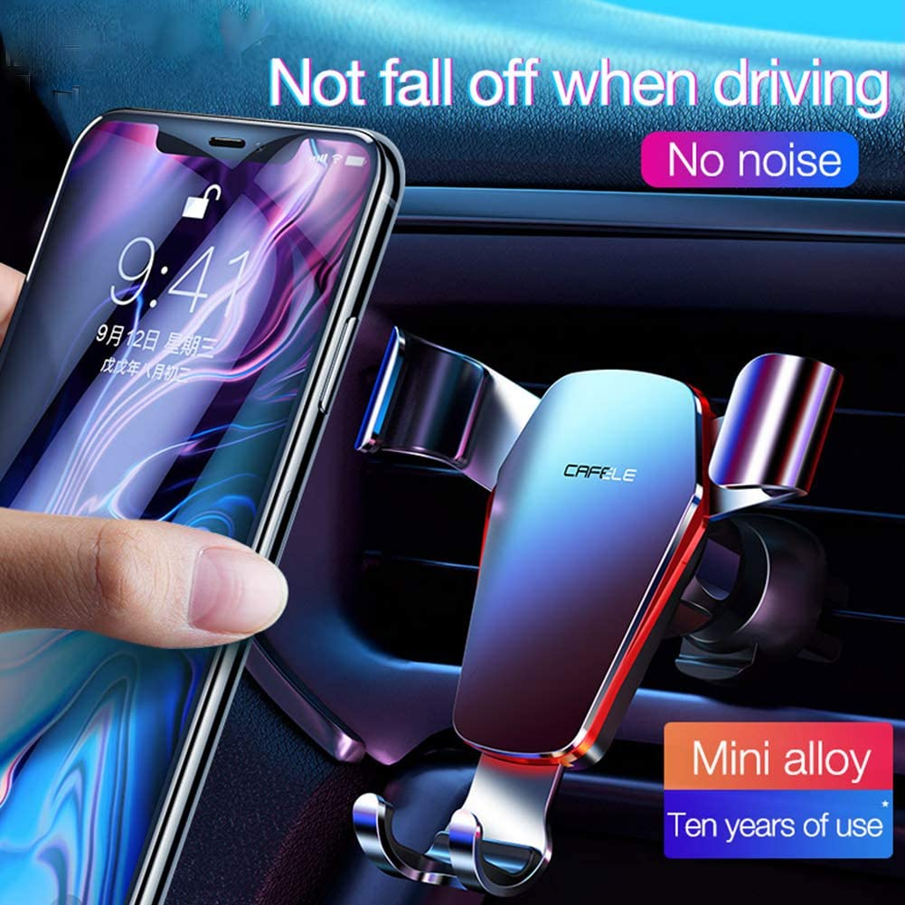 Car Phone Holder, Universal Phone Mount Air Vent Phone Holder 360 ° Rotation Iphone autohouder, met One Button release, Gravity Auto Lock, voor de Iphone, Samsung, Huawei, Etc,B A