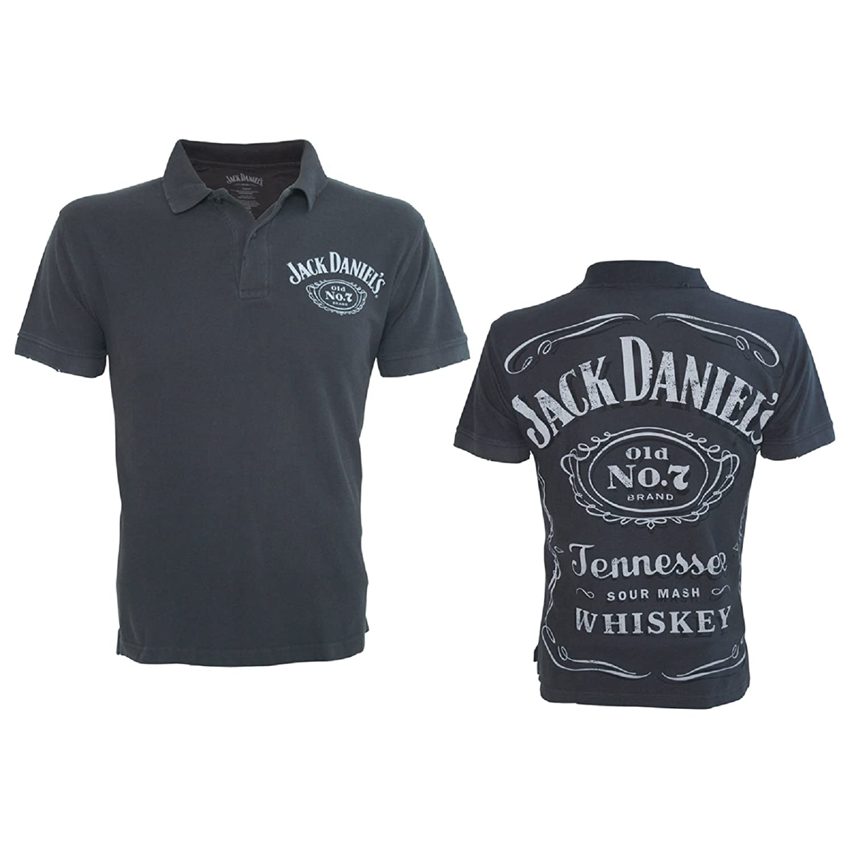 Jack Daniels Poloshirt Classic Logo Darkgray T Shirt Gr Xxl