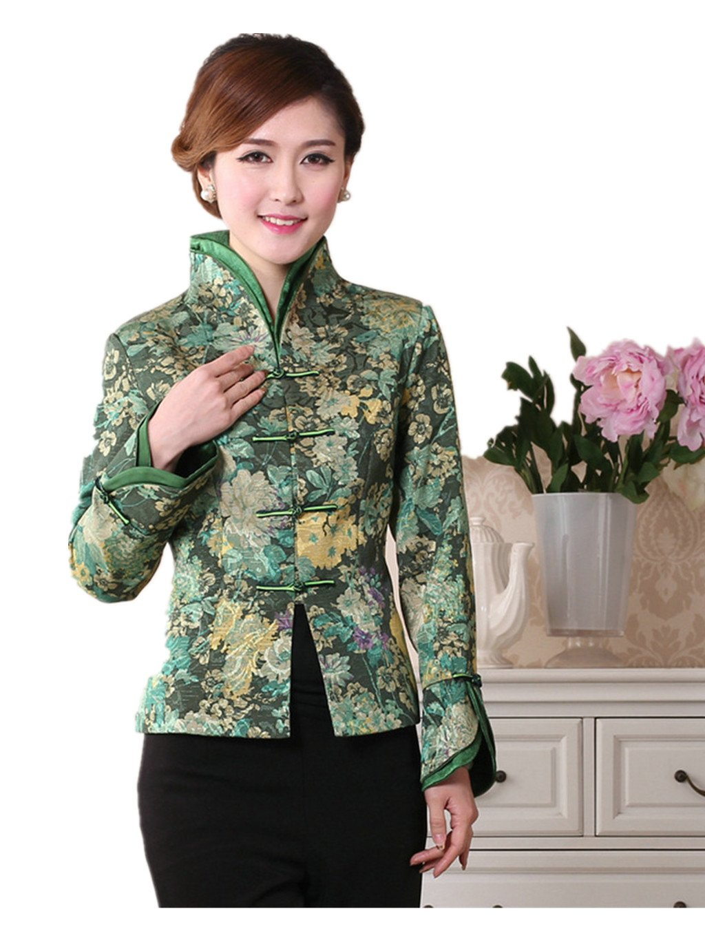 Womens Tang Suits Chinese Style Coats Retro Jackets Full Dress Formal Dress Womens Jackets Business Jackets