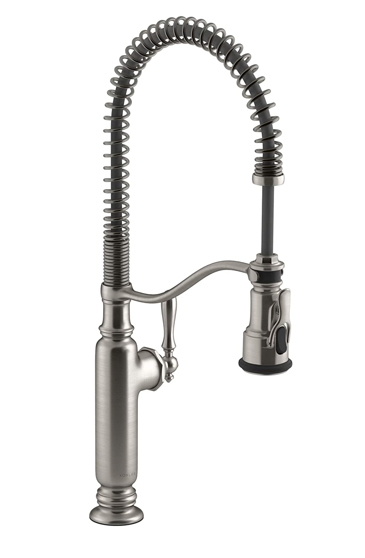 KOHLER K-77515-VS Tournant Semi-Professional Pull-Down Kitchen Sink Faucet, Brushed Stainless