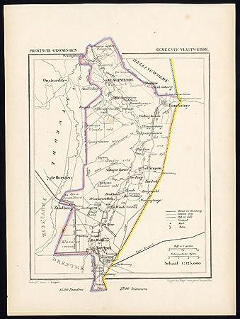 Amazon.de: ThePrintsCollector Antik map-holland-vlagtwedde-groningen ...