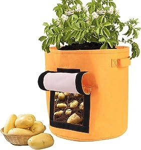 ETDWA DIY Plant Grow Bag Potato Tomato Grow Planter PE Cloth Planting Container Bag Thicken Garden Pot Garden Supplies