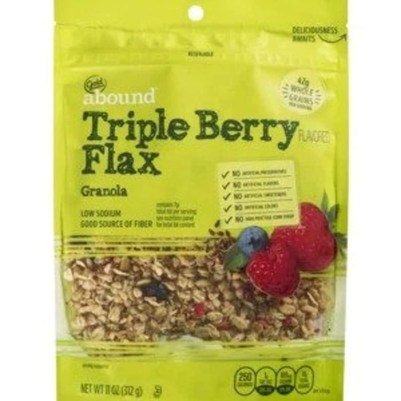 Gold Emblem Abound Triple Berry Flax Granola