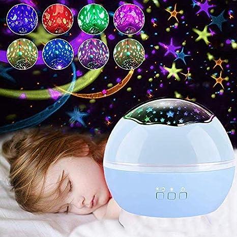 Regalos para niños de 3-8 años de edad, niña, estrella, proyector ...