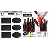 Reusable Personalized Beer Bottle Labels for Home Brewing - Hand Printable Labels Waterproof Vinyl