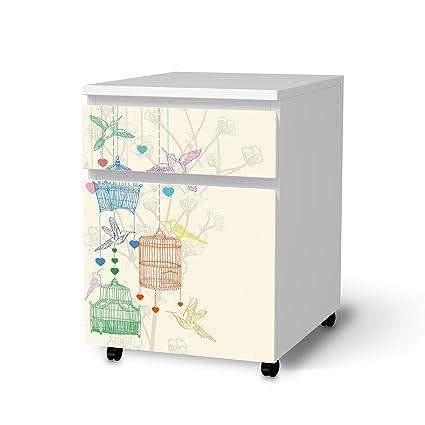adhesivas Pegatinas Papel pintado Protector de pantalla para Ikea Malm cajón Element sobre ruedas, muebles