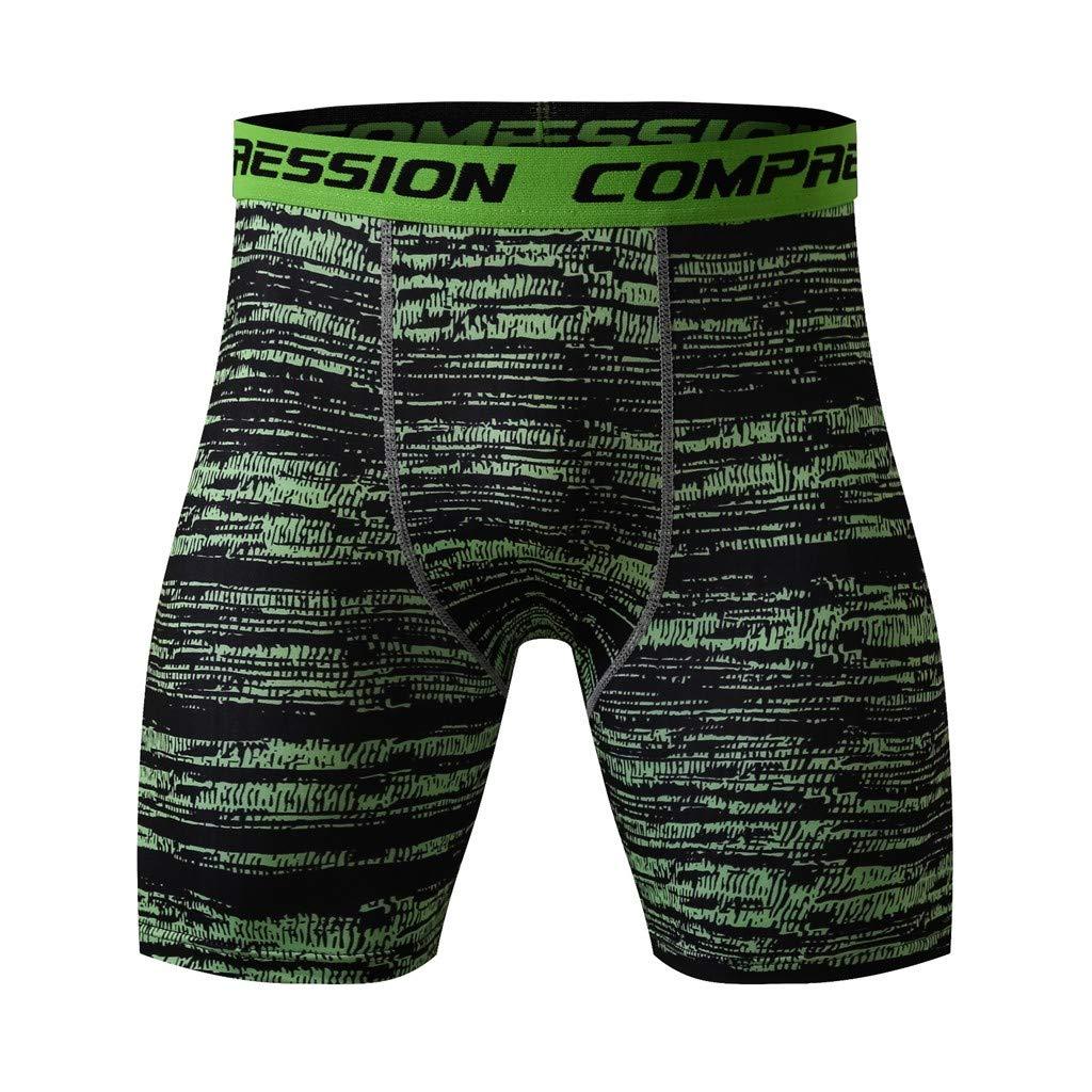 NUWFOR Man's Printed Workout Leggings Fitness Sports Running Yoga Athletic Short Pants(Dark Blue,US:XS/AS:L Waist:26.8''