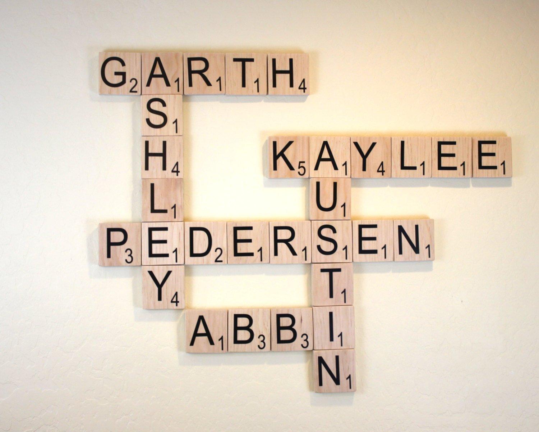 Large Scrabble Tile - Large Wood Scrabble Letter - 3.5