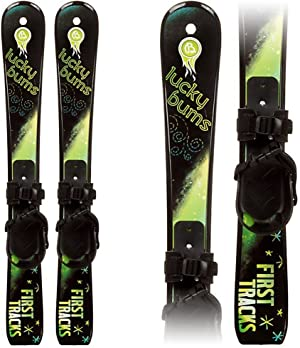 Lucky Bums Kids Beginner Snow Skis, Multiple Colors