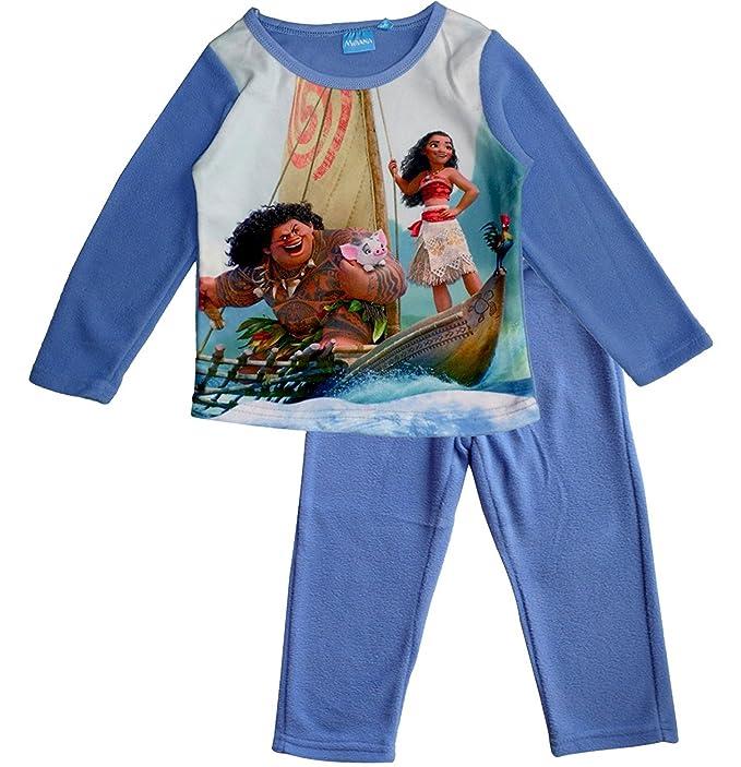 Disney Moana (Vaiana) Kids Polar Fleece Pijamas / Ropa de dormir (Azul ,