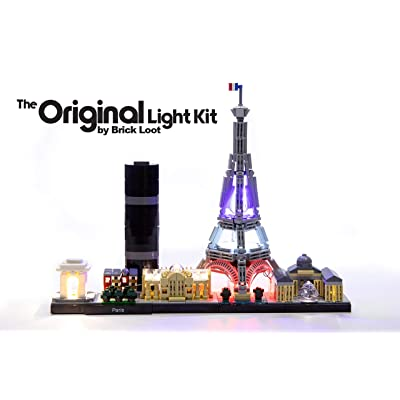Brick Loot Deluxe LED Light Kit for Your Lego Architecture Skyline Collection Paris Set 21044 - Lego Set Not Included: Toys & Games
