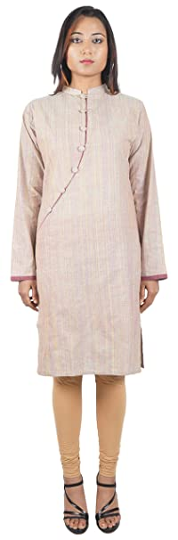 Bihar Khadi Women's Cotton Straight Kurta
