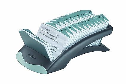Durable 241201 Adresskartei Telindex Desk Mit 500 Karteikarten 1 Stück Schwarz