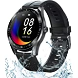 Smart Watch Fitness Tracker for Android iOS Phones,Body Temperature Smartwatch with Heart Rate Sleep Blood Pressure Blood Oxy