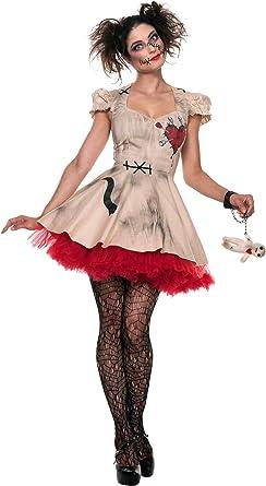 Seeing Red Inc para Mujer Disfraz de Plus Size muñeco de vudú ...