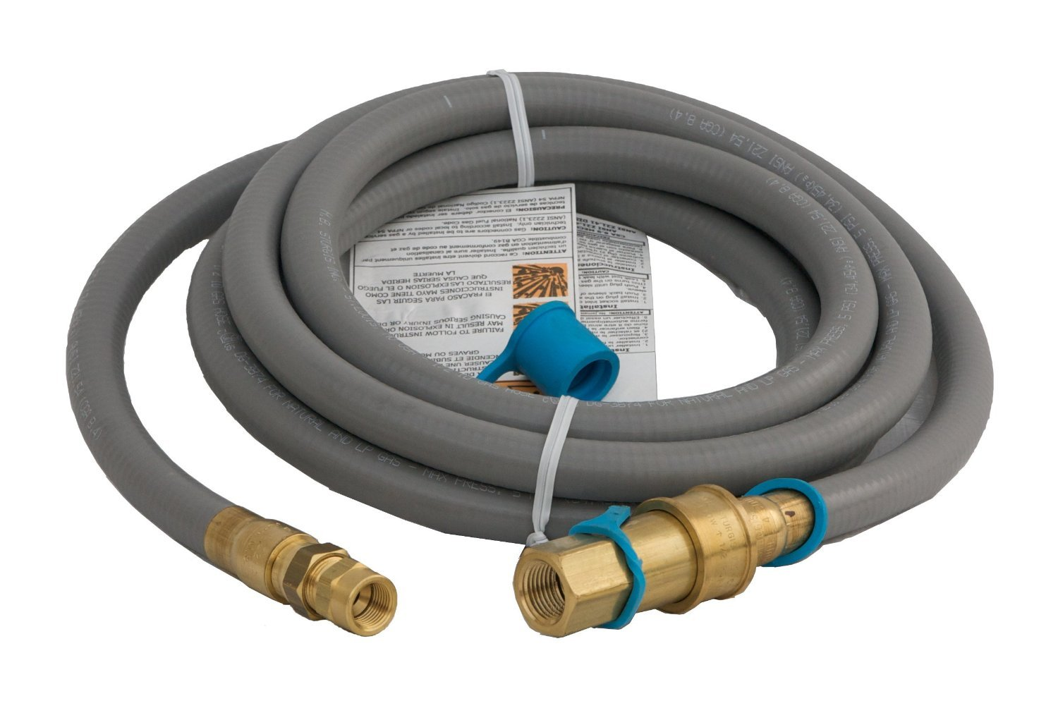 "Weber # 42902 10' Natural Gas Hose Kit w/ 1/2"" QD Fitting"